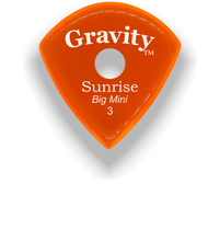 Load image into Gallery viewer, Sunrise Big Mini 3.0mm Orange Single Round Grip Acrylic Guitar Pick Handmade Custom Best Acoustic Mandolin Electric Ukulele Bass Plectrum Bright Loud Faster Speed