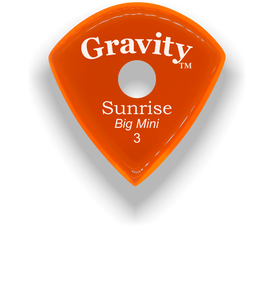 Sunrise Big Mini 3.0mm Orange Single Round Grip Acrylic Guitar Pick Handmade Custom Best Acoustic Mandolin Electric Ukulele Bass Plectrum Bright Loud Faster Speed