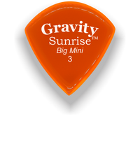 Load image into Gallery viewer, Sunrise Big Mini 3.0mm Orange Acrylic Guitar Pick Handmade Custom Best Acoustic Mandolin Electric Ukulele Bass Plectrum Bright Loud Faster Speed