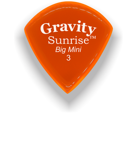 Sunrise Big Mini 3.0mm Orange Acrylic Guitar Pick Handmade Custom Best Acoustic Mandolin Electric Ukulele Bass Plectrum Bright Loud Faster Speed