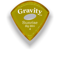 Load image into Gallery viewer, Sunrise Big Mini 4.0mm Yellow Elipse Grip Acrylic Guitar Pick Handmade Custom Best Acoustic Mandolin Electric Ukulele Bass Plectrum Bright Loud Faster Speed