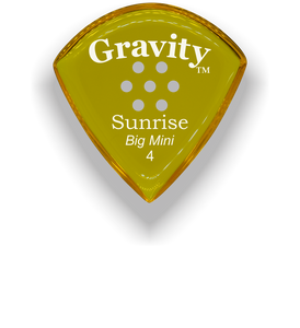 Sunrise Big Mini 4.0mm Yellow Multi-Hole Grip Acrylic Guitar Pick Handmade Custom Best Acoustic Mandolin Electric Ukulele Bass Plectrum Bright Loud Faster Speed