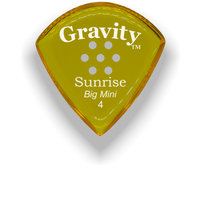 Load image into Gallery viewer, Sunrise Big Mini 4.0mm Yellow Multi-Hole Grip Acrylic Guitar Pick Handmade Custom Best Acoustic Mandolin Electric Ukulele Bass Plectrum Bright Loud Faster Speed