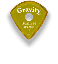 Load image into Gallery viewer, Sunrise Big Mini 4.0mm Yellow Single Round Grip Acrylic Guitar Pick Handmade Custom Best Acoustic Mandolin Electric Ukulele Bass Plectrum Bright Loud Faster Speed