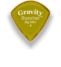 Load image into Gallery viewer, Sunrise Big Mini 4.0mm Yellow Acrylic Guitar Pick Handmade Custom Best Acoustic Mandolin Electric Ukulele Bass Plectrum Bright Loud Faster Speed