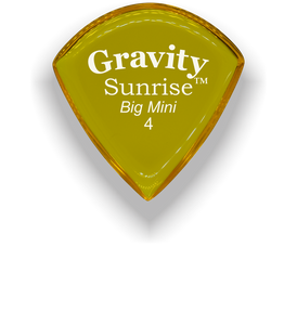 Sunrise Big Mini 4.0mm Yellow Acrylic Guitar Pick Handmade Custom Best Acoustic Mandolin Electric Ukulele Bass Plectrum Bright Loud Faster Speed
