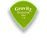 Load image into Gallery viewer, Sunrise Mini 1.5mm Fluorescent Green Acrylic Guitar Pick Handmade Custom Best Acoustic Mandolin Electric Ukulele Bass Plectrum Bright Loud Faster Speed