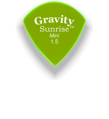 Sunrise Mini 1.5mm Fluorescent Green Acrylic Guitar Pick Handmade Custom Best Acoustic Mandolin Electric Ukulele Bass Plectrum Bright Loud Faster Speed