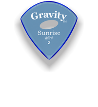 Load image into Gallery viewer, Sunrise Mini 2.0mm Blue Elipse Grip Acrylic Guitar Pick Handmade Custom Best Acoustic Mandolin Electric Ukulele Bass Plectrum Bright Loud Faster Speed