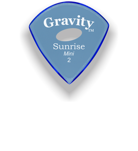 Sunrise Mini 2.0mm Blue Elipse Grip Acrylic Guitar Pick Handmade Custom Best Acoustic Mandolin Electric Ukulele Bass Plectrum Bright Loud Faster Speed