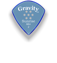 Load image into Gallery viewer, Sunrise Mini 2.0mm Blue Multi-Hole Grip Acrylic Guitar Pick Handmade Custom Best Acoustic Mandolin Electric Ukulele Bass Plectrum Bright Loud Faster Speed