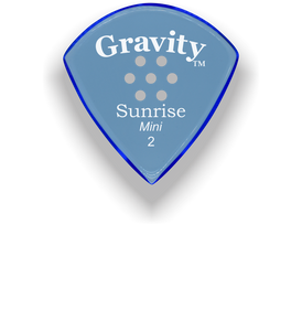 Sunrise Mini 2.0mm Blue Multi-Hole Grip Acrylic Guitar Pick Handmade Custom Best Acoustic Mandolin Electric Ukulele Bass Plectrum Bright Loud Faster Speed
