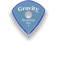 Load image into Gallery viewer, Sunrise Mini 2.0mm Blue Single Round Grip Acrylic Guitar Pick Handmade Custom Best Acoustic Mandolin Electric Ukulele Bass Plectrum Bright Loud Faster Speed