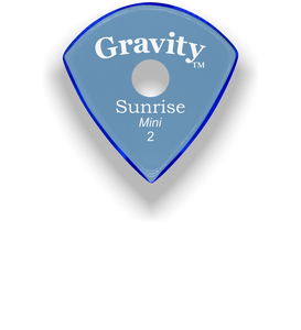 Sunrise Mini 2.0mm Blue Single Round Grip Acrylic Guitar Pick Handmade Custom Best Acoustic Mandolin Electric Ukulele Bass Plectrum Bright Loud Faster Speed