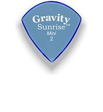Load image into Gallery viewer, Sunrise Mini 2.0mm Blue Acrylic Guitar Pick Handmade Custom Best Acoustic Mandolin Electric Ukulele Bass Plectrum Bright Loud Faster Speed