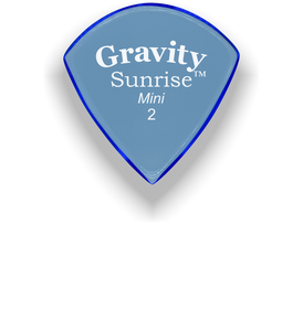 Sunrise Mini 2.0mm Blue Acrylic Guitar Pick Handmade Custom Best Acoustic Mandolin Electric Ukulele Bass Plectrum Bright Loud Faster Speed