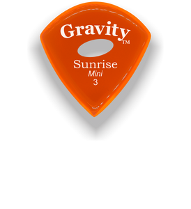 Sunrise Mini 3.0mm Orange Elipse Grip Acrylic Guitar Pick Handmade Custom Best Acoustic Mandolin Electric Ukulele Bass Plectrum Bright Loud Faster Speed