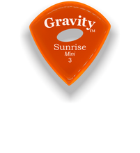 Load image into Gallery viewer, Sunrise Mini 3.0mm Orange Elipse Grip Acrylic Guitar Pick Handmade Custom Best Acoustic Mandolin Electric Ukulele Bass Plectrum Bright Loud Faster Speed