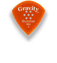 Load image into Gallery viewer, Sunrise Mini 3.0mm Orange Multi-Hole Grip Acrylic Guitar Pick Handmade Custom Best Acoustic Mandolin Electric Ukulele Bass Plectrum Bright Loud Faster Speed