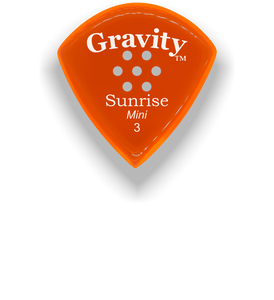Sunrise Mini 3.0mm Orange Multi-Hole Grip Acrylic Guitar Pick Handmade Custom Best Acoustic Mandolin Electric Ukulele Bass Plectrum Bright Loud Faster Speed