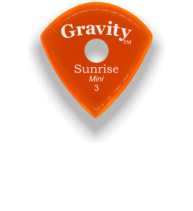 Sunrise Mini 3.0mm Orange Single Round Grip Acrylic Guitar Pick Handmade Custom Best Acoustic Mandolin Electric Ukulele Bass Plectrum Bright Loud Faster Speed