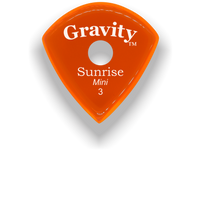 Load image into Gallery viewer, Sunrise Mini 3.0mm Orange Single Round Grip Acrylic Guitar Pick Handmade Custom Best Acoustic Mandolin Electric Ukulele Bass Plectrum Bright Loud Faster Speed