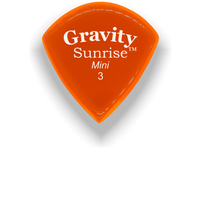 Load image into Gallery viewer, Sunrise Mini 3.0mm Orange Acrylic Guitar Pick Handmade Custom Best Acoustic Mandolin Electric Ukulele Bass Plectrum Bright Loud Faster Speed