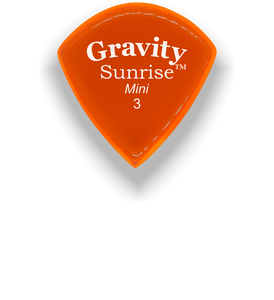Sunrise Mini 3.0mm Orange Acrylic Guitar Pick Handmade Custom Best Acoustic Mandolin Electric Ukulele Bass Plectrum Bright Loud Faster Speed