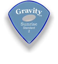 Load image into Gallery viewer, Sunrise Standard 2.0mm Blue Elipse Grip Acrylic Guitar Pick Handmade Custom Best Acoustic Mandolin Electric Ukulele Bass Plectrum Bright Loud Faster Speed