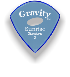 Sunrise Standard 2.0mm Blue Elipse Grip Acrylic Guitar Pick Handmade Custom Best Acoustic Mandolin Electric Ukulele Bass Plectrum Bright Loud Faster Speed