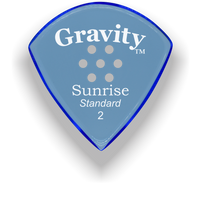 Load image into Gallery viewer, Sunrise Standard 2.0mm Blue Multi-Hole Grip Acrylic Guitar Pick Handmade Custom Best Acoustic Mandolin Electric Ukulele Bass Plectrum Bright Loud Faster Speed