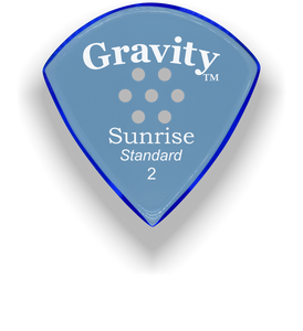 Sunrise Standard 2.0mm Blue Multi-Hole Grip Acrylic Guitar Pick Handmade Custom Best Acoustic Mandolin Electric Ukulele Bass Plectrum Bright Loud Faster Speed