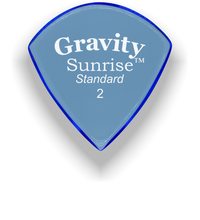 Load image into Gallery viewer, Sunrise Standard 2.0mm Blue Acrylic Guitar Pick Handmade Custom Best Acoustic Mandolin Electric Ukulele Bass Plectrum Bright Loud Faster Speed