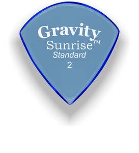 Sunrise Standard 2.0mm Blue Acrylic Guitar Pick Handmade Custom Best Acoustic Mandolin Electric Ukulele Bass Plectrum Bright Loud Faster Speed