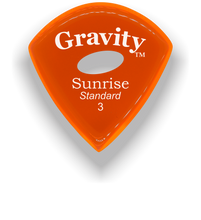 Load image into Gallery viewer, Sunrise Standard 3.0mm Orange Elipse Grip Acrylic Guitar Pick Handmade Custom Best Acoustic Mandolin Electric Ukulele Bass Plectrum Bright Loud Faster Speed