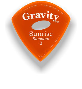 Sunrise Standard 3.0mm Orange Elipse Grip Acrylic Guitar Pick Handmade Custom Best Acoustic Mandolin Electric Ukulele Bass Plectrum Bright Loud Faster Speed