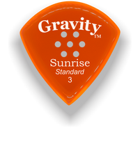 Load image into Gallery viewer, Sunrise Standard 3.0mm Orange Multi-Hole Grip Acrylic Guitar Pick Handmade Custom Best Acoustic Mandolin Electric Ukulele Bass Plectrum Bright Loud Faster Speed