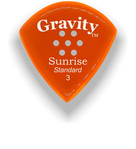 Sunrise Standard 3.0mm Orange Multi-Hole Grip Acrylic Guitar Pick Handmade Custom Best Acoustic Mandolin Electric Ukulele Bass Plectrum Bright Loud Faster Speed