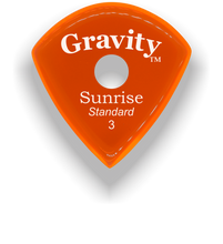 Load image into Gallery viewer, Sunrise Standard 3.0mm Orange Single Round Grip Acrylic Guitar Pick Handmade Custom Best Acoustic Mandolin Electric Ukulele Bass Plectrum Bright Loud Faster Speed