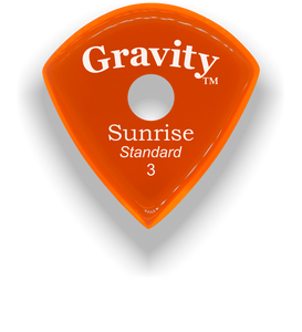 Sunrise Standard 3.0mm Orange Single Round Grip Acrylic Guitar Pick Handmade Custom Best Acoustic Mandolin Electric Ukulele Bass Plectrum Bright Loud Faster Speed