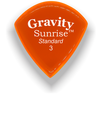Load image into Gallery viewer, Sunrise Standard 3.0mm Orange Acrylic Guitar Pick Handmade Custom Best Acoustic Mandolin Electric Ukulele Bass Plectrum Bright Loud Faster Speed