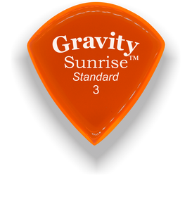 Sunrise Standard 3.0mm Orange Acrylic Guitar Pick Handmade Custom Best Acoustic Mandolin Electric Ukulele Bass Plectrum Bright Loud Faster Speed
