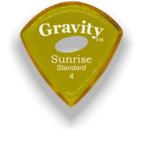 Load image into Gallery viewer, Sunrise Standard 4.0mm Yellow Elipse Grip Acrylic Guitar Pick Handmade Custom Best Acoustic Mandolin Electric Ukulele Bass Plectrum Bright Loud Faster Speed
