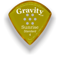 Load image into Gallery viewer, Sunrise Standard 4.0mm Yellow Multi-Hole Grip Acrylic Guitar Pick Handmade Custom Best Acoustic Mandolin Electric Ukulele Bass Plectrum Bright Loud Faster Speed