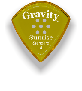 Sunrise Standard 4.0mm Yellow Multi-Hole Grip Acrylic Guitar Pick Handmade Custom Best Acoustic Mandolin Electric Ukulele Bass Plectrum Bright Loud Faster Speed