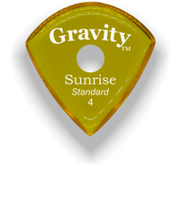 Load image into Gallery viewer, Sunrise Standard 4.0mm Yellow Single Round Grip Acrylic Guitar Pick Handmade Custom Best Acoustic Mandolin Electric Ukulele Bass Plectrum Bright Loud Faster Speed