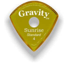 Sunrise Standard 4.0mm Yellow Single Round Grip Acrylic Guitar Pick Handmade Custom Best Acoustic Mandolin Electric Ukulele Bass Plectrum Bright Loud Faster Speed