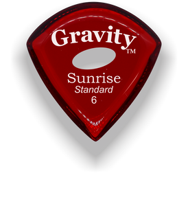 Sunrise Standard 6.0mm Red Elipse Grip Acrylic Guitar Pick Handmade Custom Best Acoustic Mandolin Electric Ukulele Bass Plectrum Bright Loud Faster Speed
