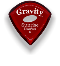 Load image into Gallery viewer, Sunrise Standard 6.0mm Red Elipse Grip Acrylic Guitar Pick Handmade Custom Best Acoustic Mandolin Electric Ukulele Bass Plectrum Bright Loud Faster Speed