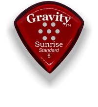 Load image into Gallery viewer, Sunrise Standard 6.0mm Red Multi-Hole Grip Acrylic Guitar Pick Handmade Custom Best Acoustic Mandolin Electric Ukulele Bass Plectrum Bright Loud Faster Speed